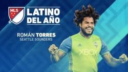 Román Torres el mejor futbolista latino del año en la MLS